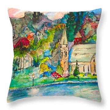 Sunday Evening In Skaneateles Ny Throw Pillow