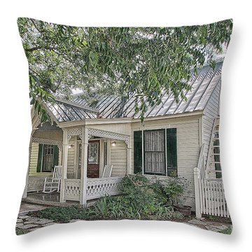 Sunday House Cottage Throw Pillow
