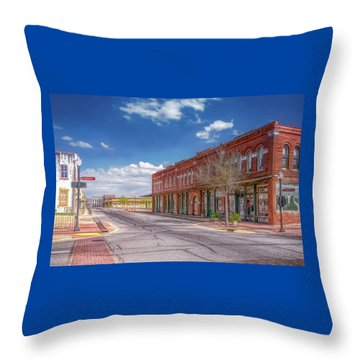 Sunday In Brenham, Texas Throw Pillow