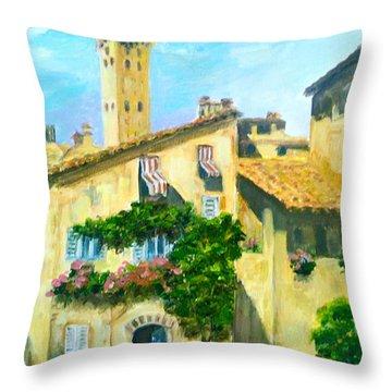Sunday In Siena Throw Pillow