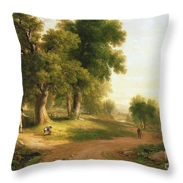 Sunday Morning Throw Pillow by Asher Brown Durand