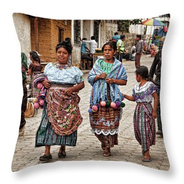 Sunday Morning In Guatemala Throw Pillow