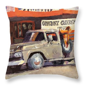 Sunday Morning In Wickenburg Throw Pillow