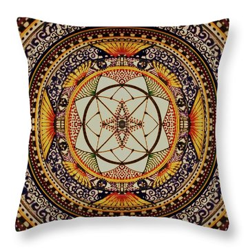 Throw Pillow featuring the painting Sunday Morning by Kym Nicolas