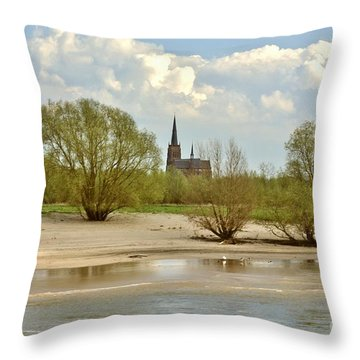 Sunday On The Rhine Throw Pillow by Jill Smith