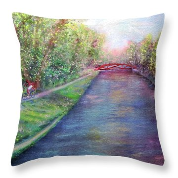 Sunday On The Towpath Throw Pillow