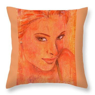 Throw Pillow featuring the painting Sunday by P J Lewis