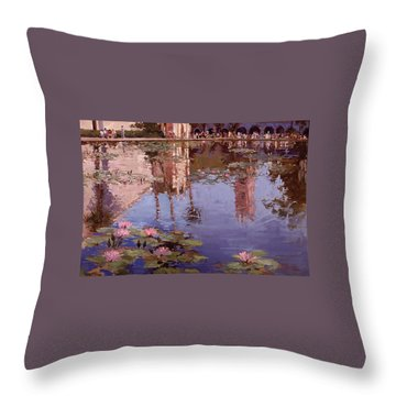 Sunday Reflections - Water Lilies Throw Pillow