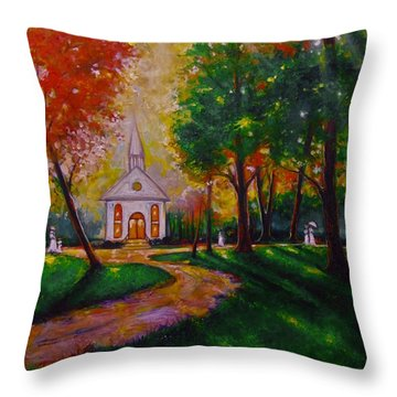 Sunday School Throw Pillow