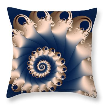 Throw Pillow featuring the digital art Sunday Spiral by Karin Kuhlmann