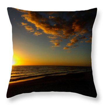 Sunday Sunset Redington Beach Throw Pillow
