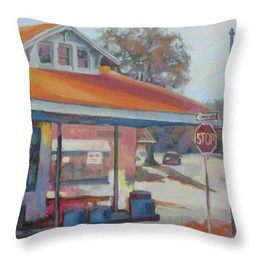 Sunday Traffic Throw Pillow by Carol Strickland