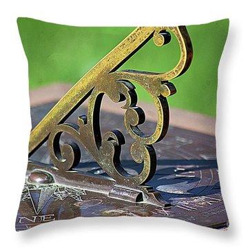 Sundial In The Garden Throw Pillow