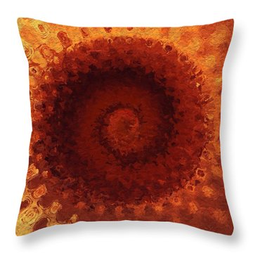 Throw Pillow featuring the painting Sundial by Mark Taylor