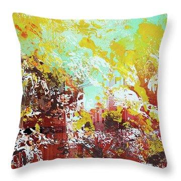 Sundown Abstraction 1 Throw Pillow