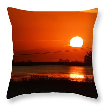 Sundown Throw Pillow by AJ  Schibig