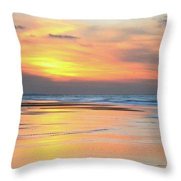 Sundown At Race Point Beach Throw Pillow by Roupen  Baker
