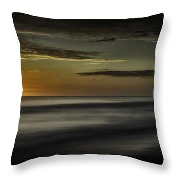 Sundown At Santa Rosa Beach Throw Pillow by Walt Foegelle