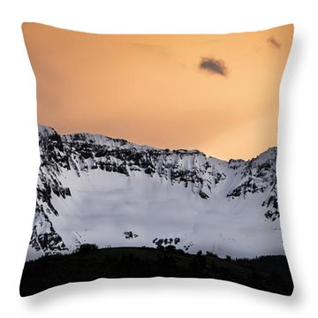 Throw Pillow featuring the photograph Sundown At Sneffels Range by The Forests Edge Photography - Diane Sandoval