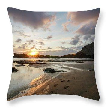 Sundown At The Edge Throw Pillow