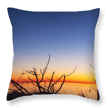 Sundown At The Sound Throw Pillow