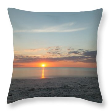 Sundown Throw Pillow by Christopher L Thomley