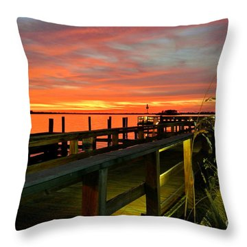Throw Pillow featuring the photograph Sundown by Elfriede Fulda