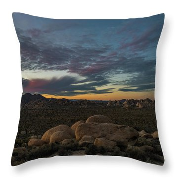 Sundown From Hilltop View Throw Pillow