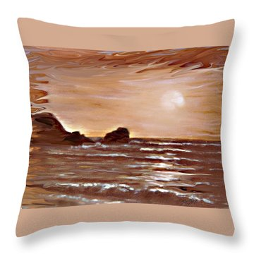 Sundown Glow Throw Pillow