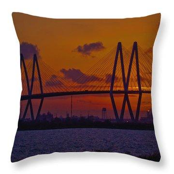 Sundown In Baytown Throw Pillow