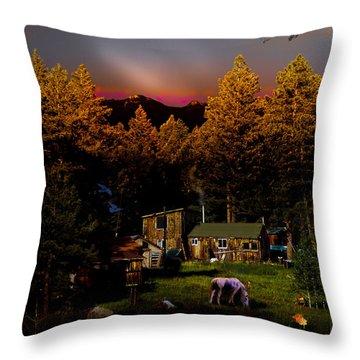 Sundown In The Rockies Throw Pillow