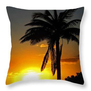 Sundown  Throw Pillow by Kerri Ligatich