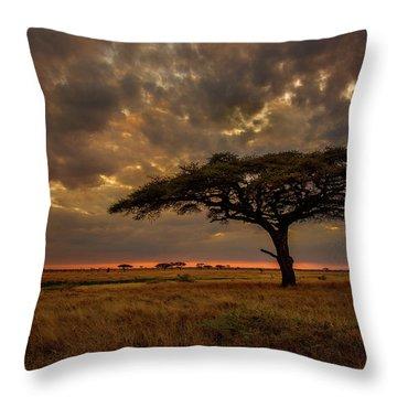 Sundown, Namiri Plains Throw Pillow