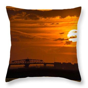 Sundown On The Charleston Coast  Throw Pillow