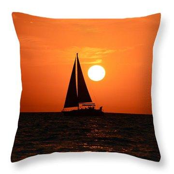 Sundown Sailors Throw Pillow