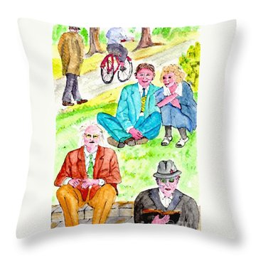 Sunday Morning In Prospect Park Throw Pillow