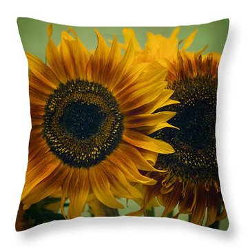 Sunflower 2 Throw Pillow