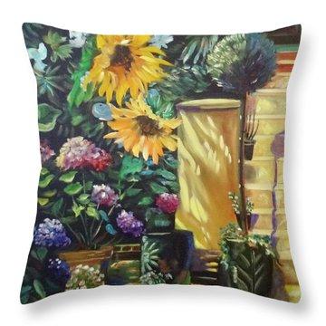 Sunflower Aloha Throw Pillow