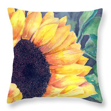 Sunflower Throw Pillow by Arline Wagner