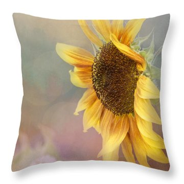 Sunflower Art - Be The Sunflower Throw Pillow