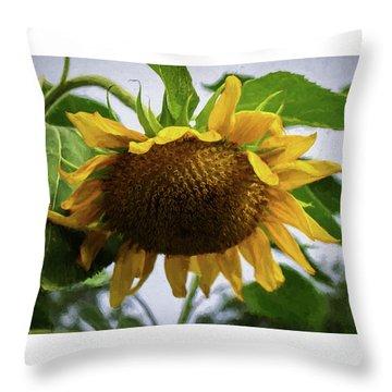 Sunflower Art II Throw Pillow