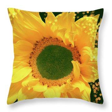 Sunflower Art Throw Pillow