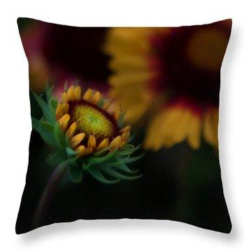 Sunflower Throw Pillow by Cherie Duran