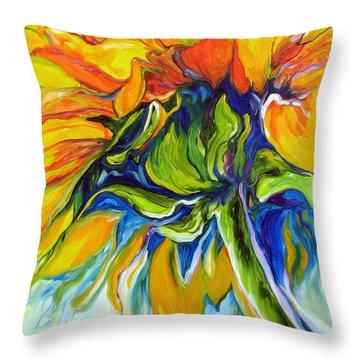 Sunflower Day Throw Pillow