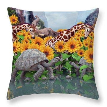 Sunflower Daydream II Throw Pillow