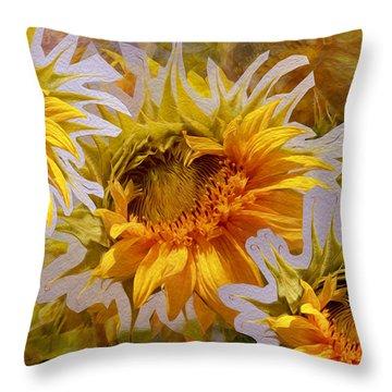 Sunflower Delight Throw Pillow