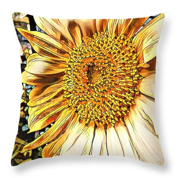 Sunflower In The Alley Throw Pillow