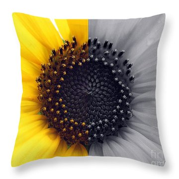 Sunflower Equinox Throw Pillow