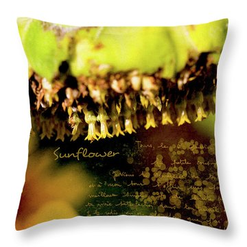 Throw Pillow featuring the photograph Sunflower Expression by Anna Louise