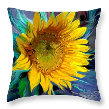 Sunflower For Van Gogh Throw Pillow